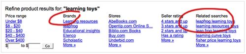поиск товаров от Google