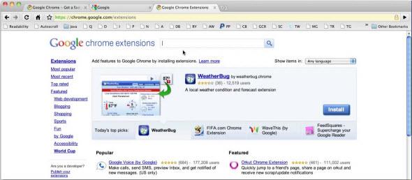 Установка расширений Google Chrome