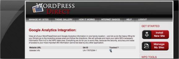 Добавление Google Analytics в WPD
