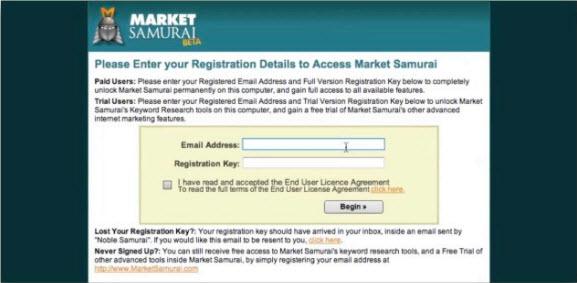 Запуск Market Samurai