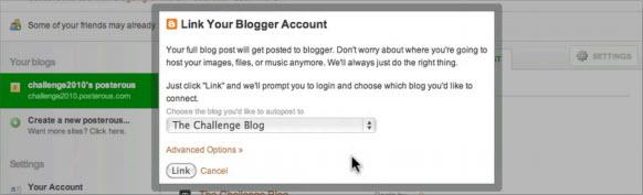 Подключаем Blogger блог к Posterous