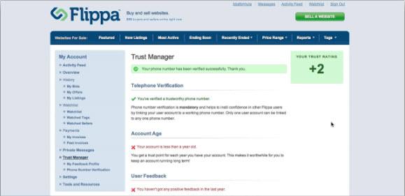 Регистрация на Flippa.com