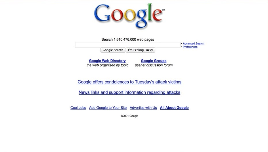 2001 год. Появились Google Группы