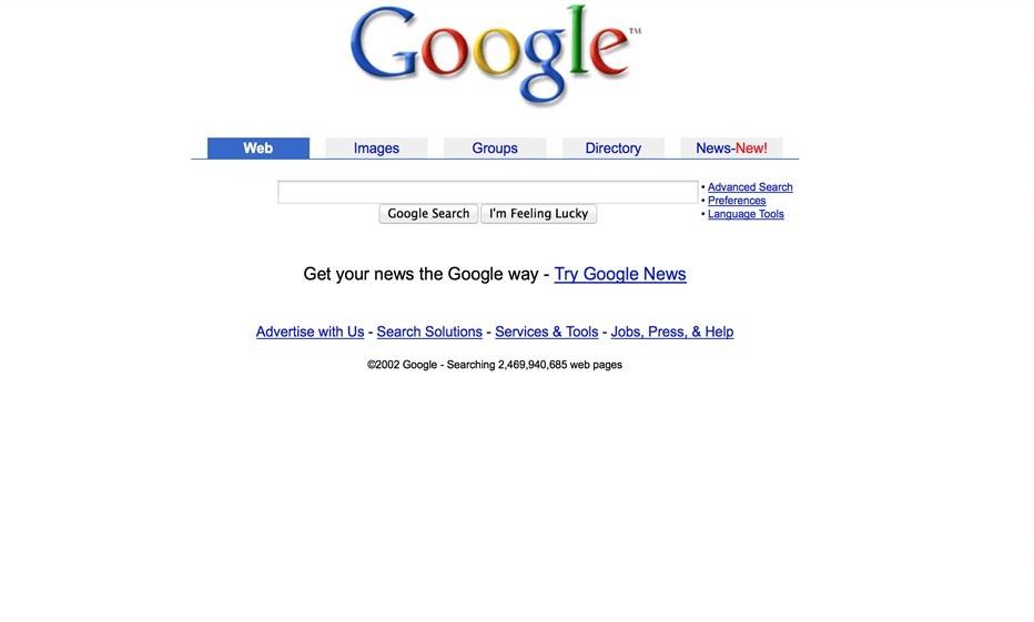 2002 год. Вкладки и Google News