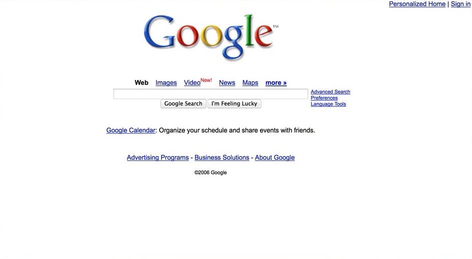 2006 год. Сервисы Google разрастаются: карты, видео, персонализированный поиск